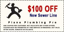 $100 Off New Plano Sewer Line Coupon