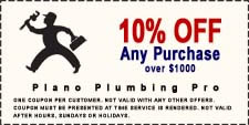 10% Off Plumbing Service Discount Coupon