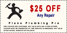 $25 Off Any Plano Plumbing Service Coupon